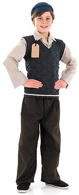 BOYS 1940s WARTIME BLITZ WW2 EVACUEE SCHOOL BOY FANCY DRESS COSTUME OUTFIT NEW