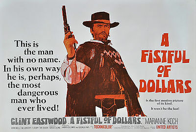 """A FISTFUL OF DOLLARS""..Clint Eastwood Classic Movie Poster A1 A2 A3 A4 Sizes"