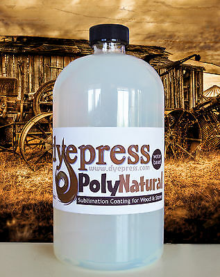 """PolyNatural """"Invisible"""" Dye Sublimation Coating Print Wood & Stone 16 oz (PN16)"""