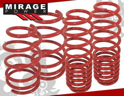 For 02-06 Nissan Altima Suspension Coil Lower Lowering Springs Red Front + Rear