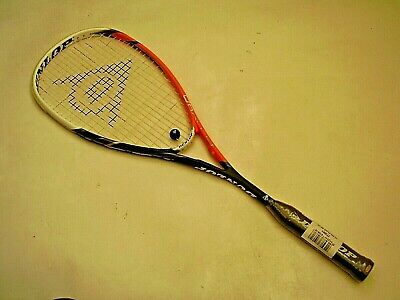 New! Dunlop Flux 40 Graphite Squash Racquet & Full Thermo Cover Rrp $149