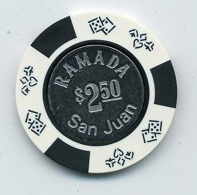 Ramada San Juan  $2.50  Coin  Inlay  Casino  Chip