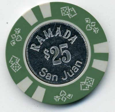 Ramada San Juan  $25 Coin  Inlay Casino  Chip