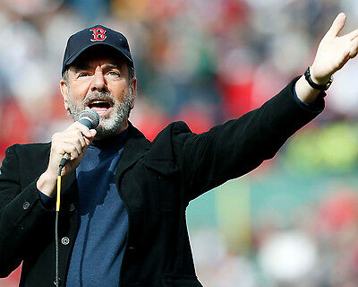 "Neil Diamond Singing ""Sweet Caroline"" April-20-2013 at Fenway, 8x10 Color Photo"