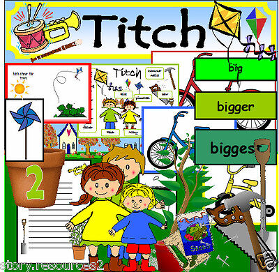 TITCH Teaching resources SPRING GROWING TOPIC EYFS KS1 ( for story sack on cd )