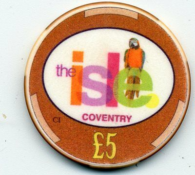 Isle Coventry  5 Pound  Casino  Chip Uk