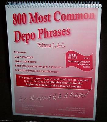 800 Most Common Depo Phrases, A-L - Court Reporting Q&A