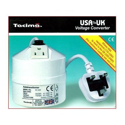 Tacima USA To UK Step Down Transformer - 240/120V - 100VA NEW & SEALED