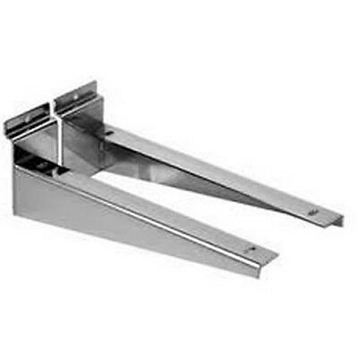 Chrome Wood|Timber Shelf Bracket For Slatwall Slat|Slot|Wall Retail Shop Display