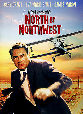 """NORTH BY NORTHWEST""..Alfred Hitchcocks Classic Movie Poster A1A2A3A4 Sizes"