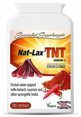 Nat-Lax TNT Fast Acting Herbal Colon Care Natural Support 10 Herbal Ingredients