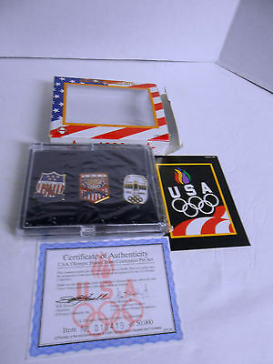 1996 MIB Limited edition USA Olympic Home team centennial 3 Pc. Pin Set