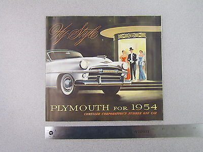 1954 Plymouth Hy-Style Sales Brochure; dealer catalog, ad, advertisement (S0029)