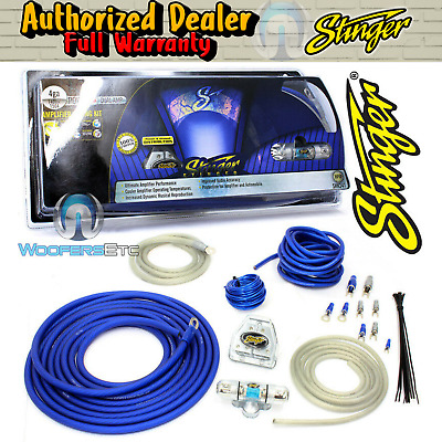 STINGER SHK341 4 GAUGE DUAL 8 AWG AMP WIRE CABLE POWER AMPLIFIER WIRING KIT