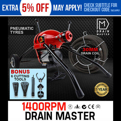 NEW DRAIN MASTER Drain Cleaner Rigid Plumbing Electric Eel Sewerage Pipe Machine