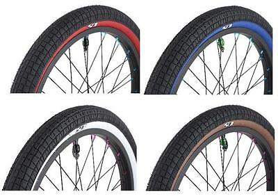 "Savage Freestyle 20"" Bmx Bike Tyre 20 x 2.3 Choice Of 4 Gumwall Colours svty003"