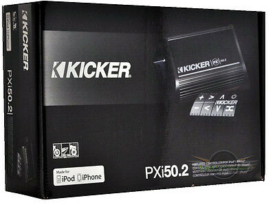 KICKER PXi50.2 *NEW* 2-channel 50 Watt amplifier and controller for iPod/iPhone