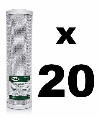 "20 x CARBON BLOCK FILTER FOR REVERSE OSMOSIS UNITS, 10"",RO,WATER FILTER FCCBL"