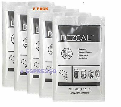 Urnex Dezcal Coffee Maker & Espresso Descaler - 5 Pack