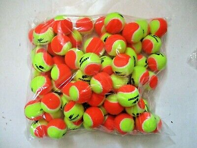 24 Stage 2 Low Compression Tennis Balls. 50% Slower Ball For Beginners