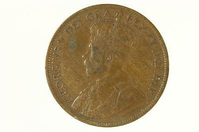 Vintage CANADA Currency Coin 1915 Large One Cent Penny George V