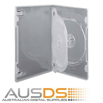 1 X CD / DVD Case clear triple 14mm spine - Holds 3 Discs