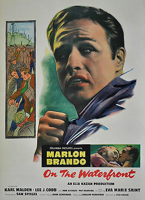 """""""ON THE WATERFRONT""""..With Marlon Brando Classic Movie Poster A1A2A3A4 Sizes"""