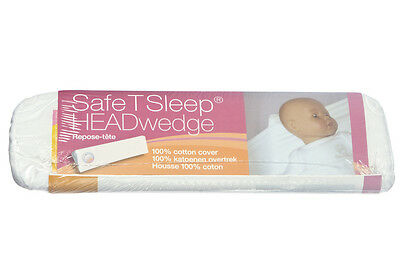 NEW Safe T Sleep Headwedge Multiwedge - prevents infant baby flat head syndrome