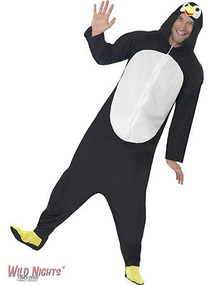 """Fancy Dress Costume # Adult All In One Penguin Costume 38""""-44"""""""