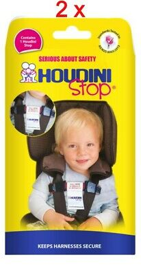 2 x New Houdini Stop Car Seat Safety Harness Chest Strap