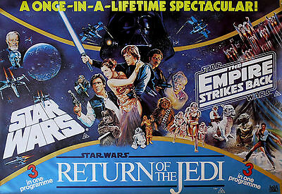 """STAR WARS TRILOGY"" ..Empire/Jedi ..Classic Sci-Fi Movie Poster A1A2A3A4Sizes"