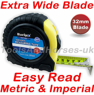 10m Tape Measure Broad Buddy Measuring Tape 32mm Extra Wide Blade / Fat Max Type
