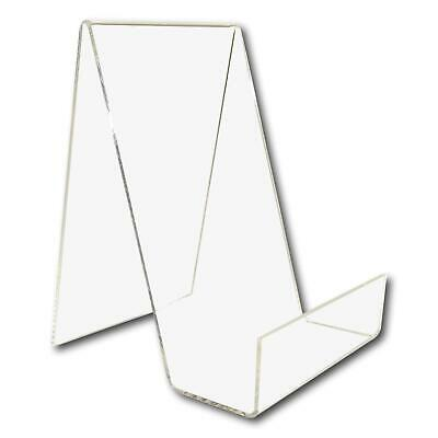 5 Medium Clear Perspex Acrylic Plastic Book Plate Retail Display Stand Holder
