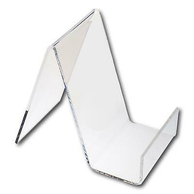 10 Small Clear Perspex Acrylic Plastic Book Plate Retail Display Stand Holder
