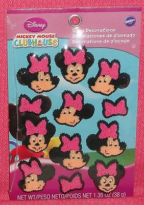 Minnie Mouse Edible Icing Cupcake Decorations,Topper,Wilton,Pink,Black,710-6363