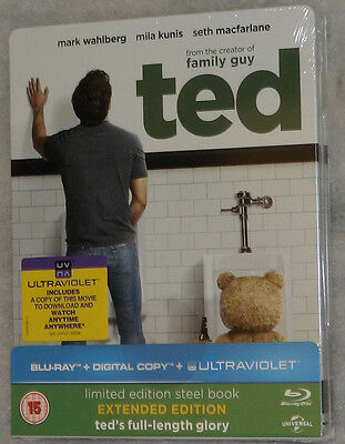 Ted - Extended Edition - Limited Edition Steelbook - Blu-ray  - NEW & SEALED