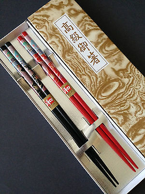 """Japanese 9""""L Wooden Lacquer Chopsticks Hair Sticks Gift Set Maple, Made in Japan"""