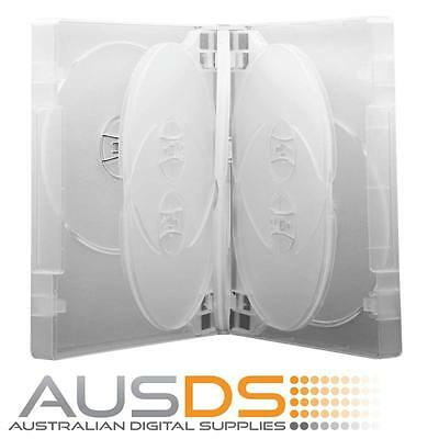 1 X DVD Case clear 8 disc 26mm spine - Holds 8 Discs Fatbox