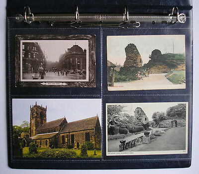 """Enigma HD Archival Safe A4 Postcard 4 Pocket 6"""" x 4"""" for Ring Binders - 10 pack"""