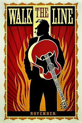 """""""WALK THE LINE"""" .Johnny Cash Classic Movie Poster A1 A2 A3 A4Sizes"""
