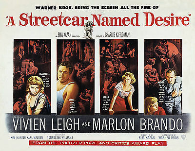 """A STREETCAR NAMED DESIRE""..Marlon Brando Classic Movie Poster A1A2A3A4 Sizes"