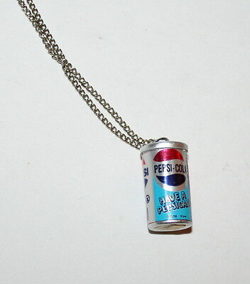 Toy Vending Prize Pepsi Cola Soda Can Necklace Pendant 1970s NOS New Pepsi-Cola
