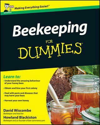 Beekeeping For Dummies by David Wiscombe (English) Paperback Book Free Shipping!