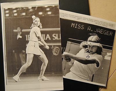 1982-83 UPI Laserphoto Lot Of 2-Tennis Great Andrea Jaeger