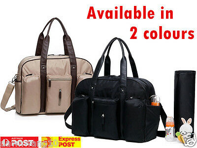 Large Colourland Carry All baby diaper nappy changing bag 3pcs- beige and black