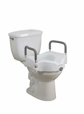 New Drive Medical Premium Seat Riser with Removable Arms for Standard Toilets