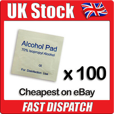 Isopropyl Alcohol Wipes / Swabs for Tattoo, Piercing, Nails (NHS Grade 70% IPA)