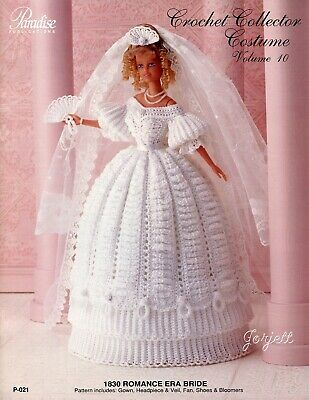 1830 Jeweled Engagement Gown Crochet Collector Costume #75 Paradise Publications