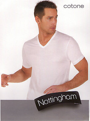 "T-Shirt Uomo Nottingham Art. Tv6103B Scollo A "" V "" In 100% Cotone Pettinato"
