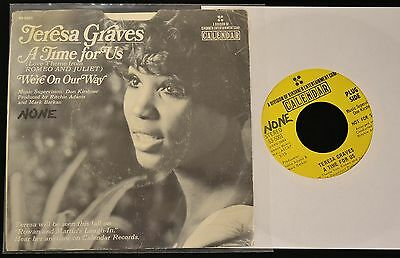 RARE PICTURE SLEEVE Teresa Graves Calendar DJ 5001 We're On Our Way
